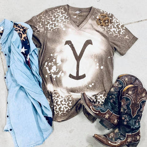 Yellowstone V Neck Tee
