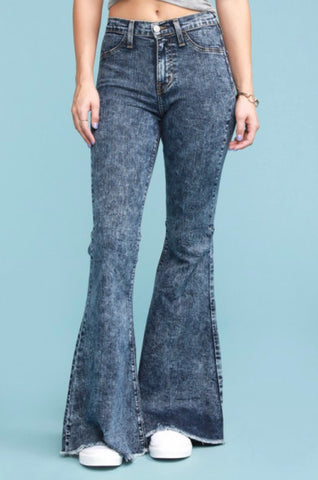 Judy Blue High Waisted Acid Wash Flare's