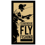 I'd Rather Be Fly Fishing Logo