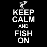 Keep Calm Fish On Logo