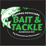 Reddog Outfitters Bait & Tackle  Mens Shirt Green and White