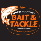 Reddog Outfitters Bait & Tackle Men Shirt Orange and White