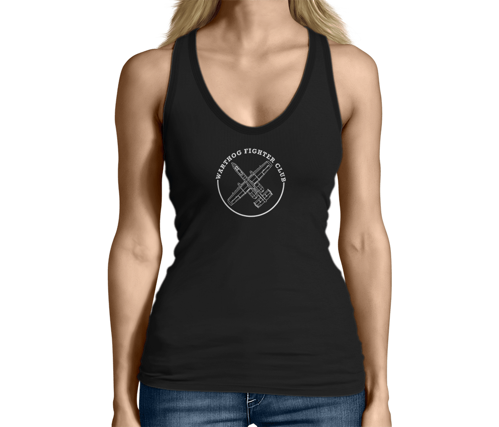 Womens A10 Warthog Fighter Club Airplane Shirt Tank Top