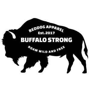 Buffalo Strong Roam Free and Wild Logo