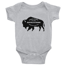 Buffalo Strong Roam Free And Wild Infant Bodysuit Gray