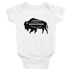 Buffalo Strong Roam Free And Wild Infant Bodysuit White