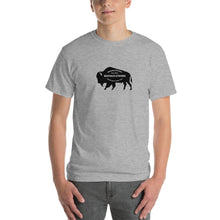 Buffalo Strong Roam Free and Wild Mens Shirt Gray