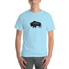 Buffalo Strong Roam Free and Wild Mens Shirt Light Blue