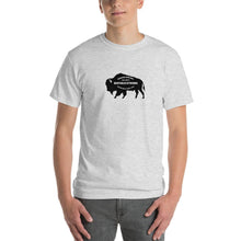 Buffalo Strong Roam Free and Wild Mens Shirt Light Gray