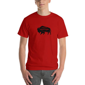 Buffalo Strong Roam Free and Wild Mens Shirt Red