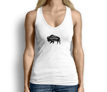Buffalo Strong Roam Free and Wild Womens Tank Top White