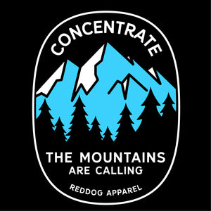 Concentrate, The Mountains are Calling Mens Branded Shirt