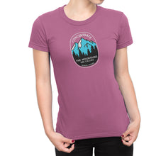 Concentrate The Mountains Are Calling Womens Shirt Pink