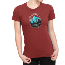 Concentrate The Mountains Are Calling Womens Shirt Red
