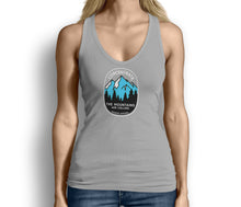Concentrate The Mountains Are Calling Womens Tank Top Gray