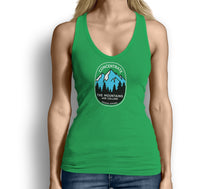 Concentrate The Mountains Are Calling Womens Tank Top Green