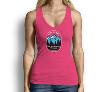 Concentrate The Mountains Are Calling Womens Tank Top Pink