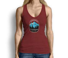 Concentrate The Mountains Are Calling Womens Tank Top Red