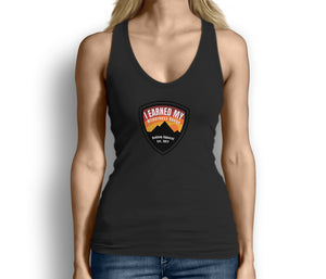 I Earned My Wilderness Badge Womens Tank Top Black