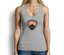 I Earned My Wilderness Badge Womens Tank Top Gray