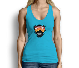 I Earned My Wilderness Badge Womens Tank Top Light Blue