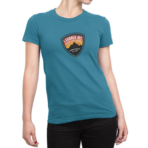 I Earned My Wilderness Badge Womens Shirt Light Blue