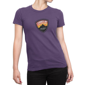 I Earned My Wilderness Badge Womens Shirt Purple