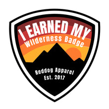 Reddog Apparel Earned My Wilderness Badge Logo