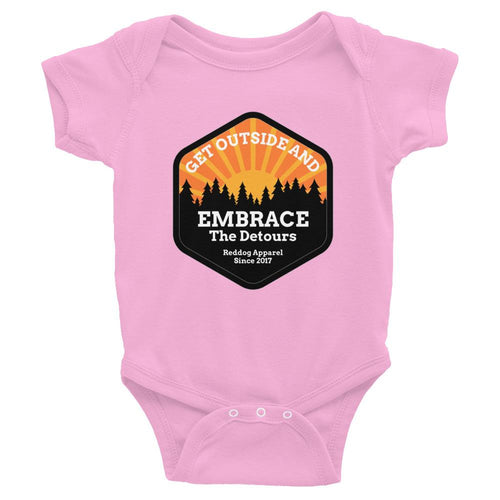 Get Outside Embrace The Detours Infant Bodysuit Pink