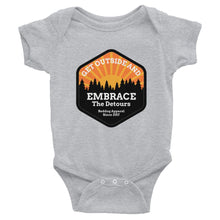 Get Outside Embrace The Detours Infant Bodysuit Gray