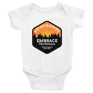 Get Outside Embrace The Detours Infant Bodysuit White