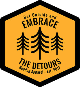 Get Outside and Embrace the Detours Sign Logo