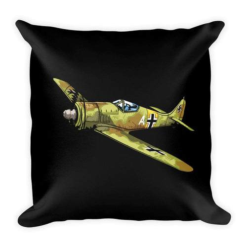 WWII German Focke-Wulf FW-190 Pillow Black