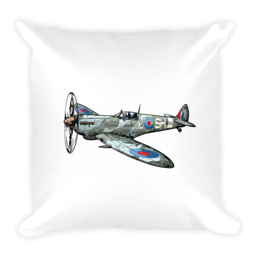 Spitfire Fock-wulf Fighter Plane Pillow Front