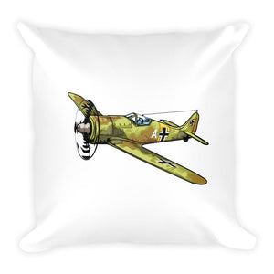 Spitfire Fock-wulf Fighter Plane Pillow Back
