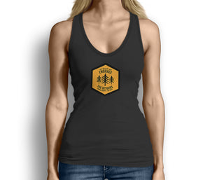 Get Outside and Embrace the Detours Sign Womens Tank Top Black