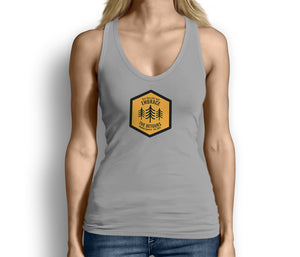 Get Outside and Embrace the Detours Sign Womens Tank Top Gray