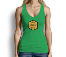 Get Outside and Embrace the Detours Sign Womens Tank Top Green