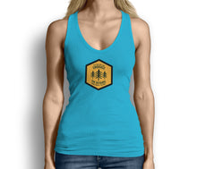 Get Outside and Embrace the Detours Sign Womens Tank Top Light Blue