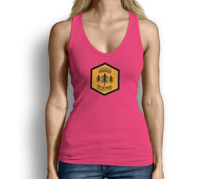 Get Outside and Embrace the Detours Sign Womens Tank Top Pink