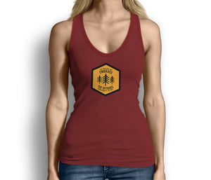 Get Outside and Embrace the Detours Sign Womens Tank Top Red