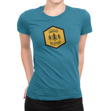Get Outside and Embrace the Detours Sign Womens Shirt Blue
