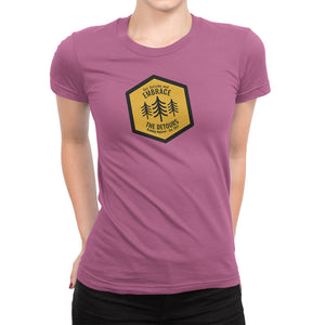 Get Outside and Embrace the Detours Sign Womens Shirt Pink