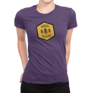 Get Outside and Embrace the Detours Sign Womens Shirt Purple