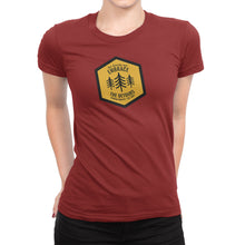 Get Outside and Embrace the Detours Sign Womens Red