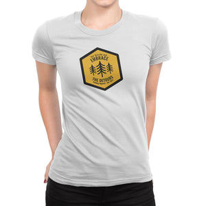 Get Outside and Embrace the Detours Sign Womens Shirt White