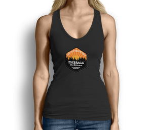 Get Outside Embrace the Detours Womens Tank Top Black