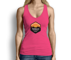 Get Outside Embrace the Detours Womens Tank Top Pink
