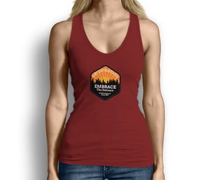Get Outside Embrace the Detours Womens Tank Top Red