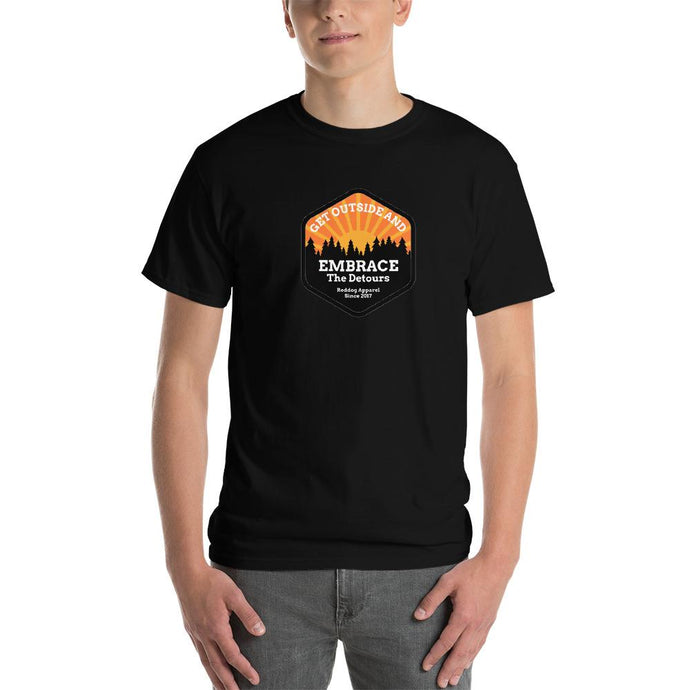 Get Outside Embrace the Detours Mens Shirt Back